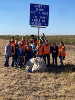 Meadow FFA Highway cleanup