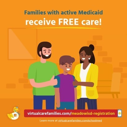 Families with Active Medicaid receive Free Care