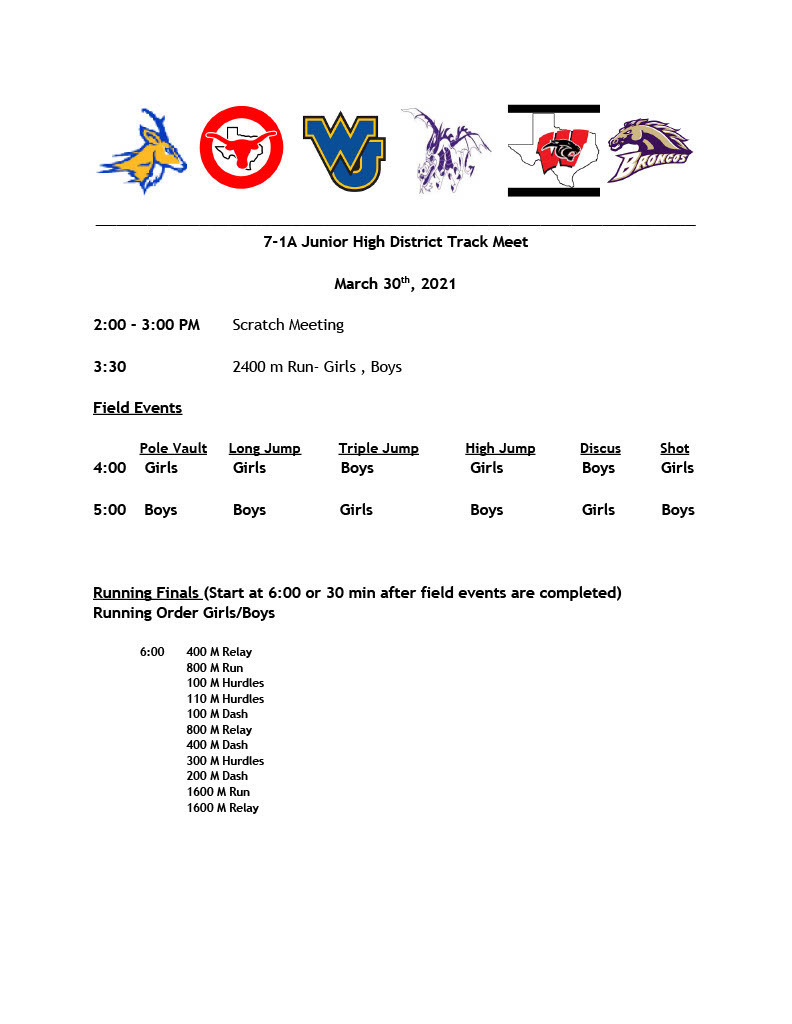 JH District Track Meet