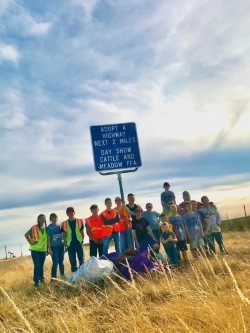 Meadow FFA Road Cleanup