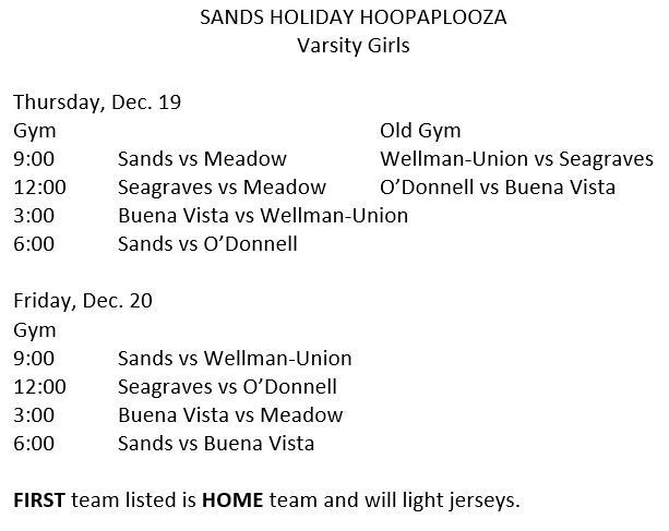 SANDS HOLIDAY HOOPAPLOOZA
