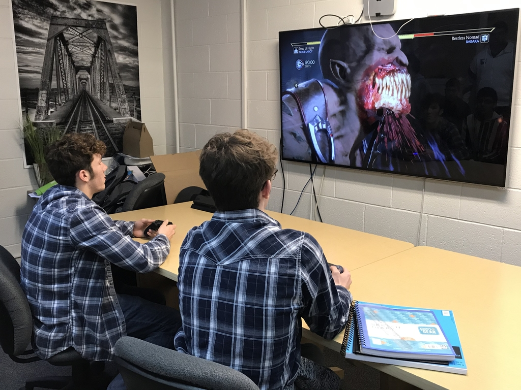 Testing video games created by SPC students.