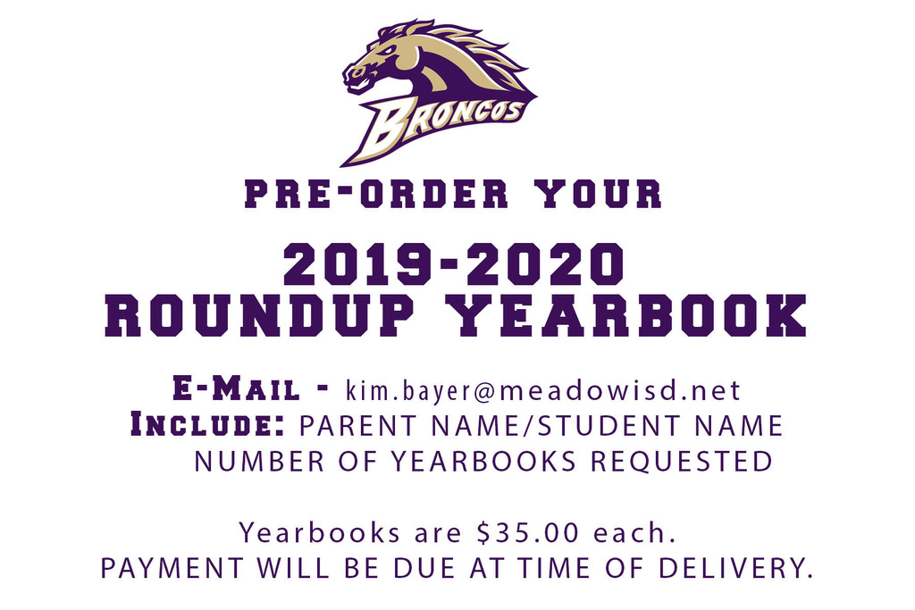 Yearbook Pre-Order Information