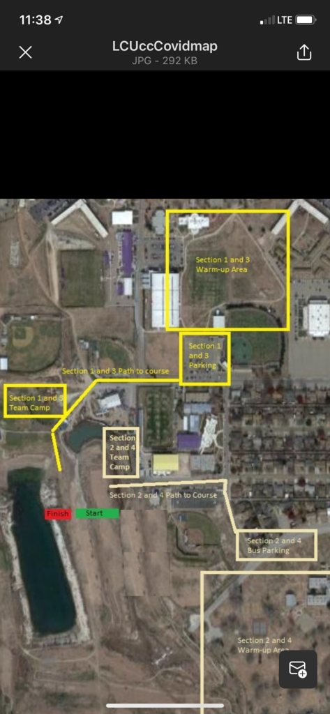 Map of LCU Covid Parking